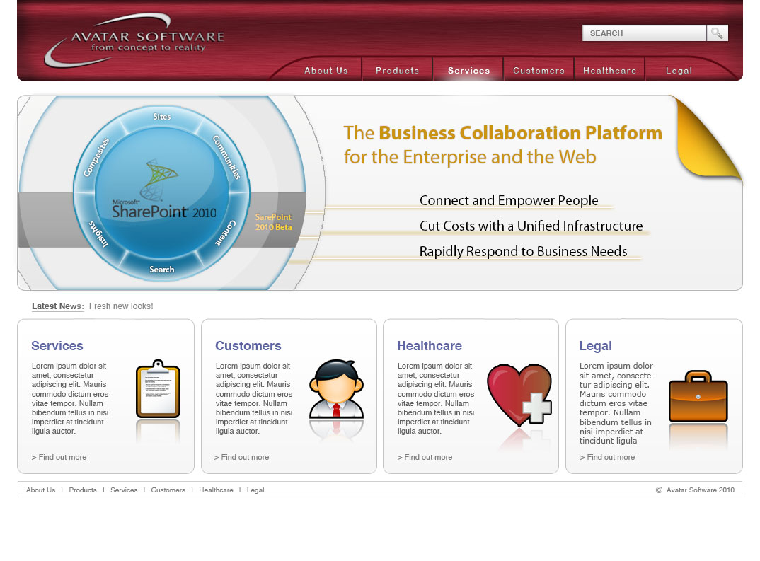 Avatar Software Website by Rimshot Creative