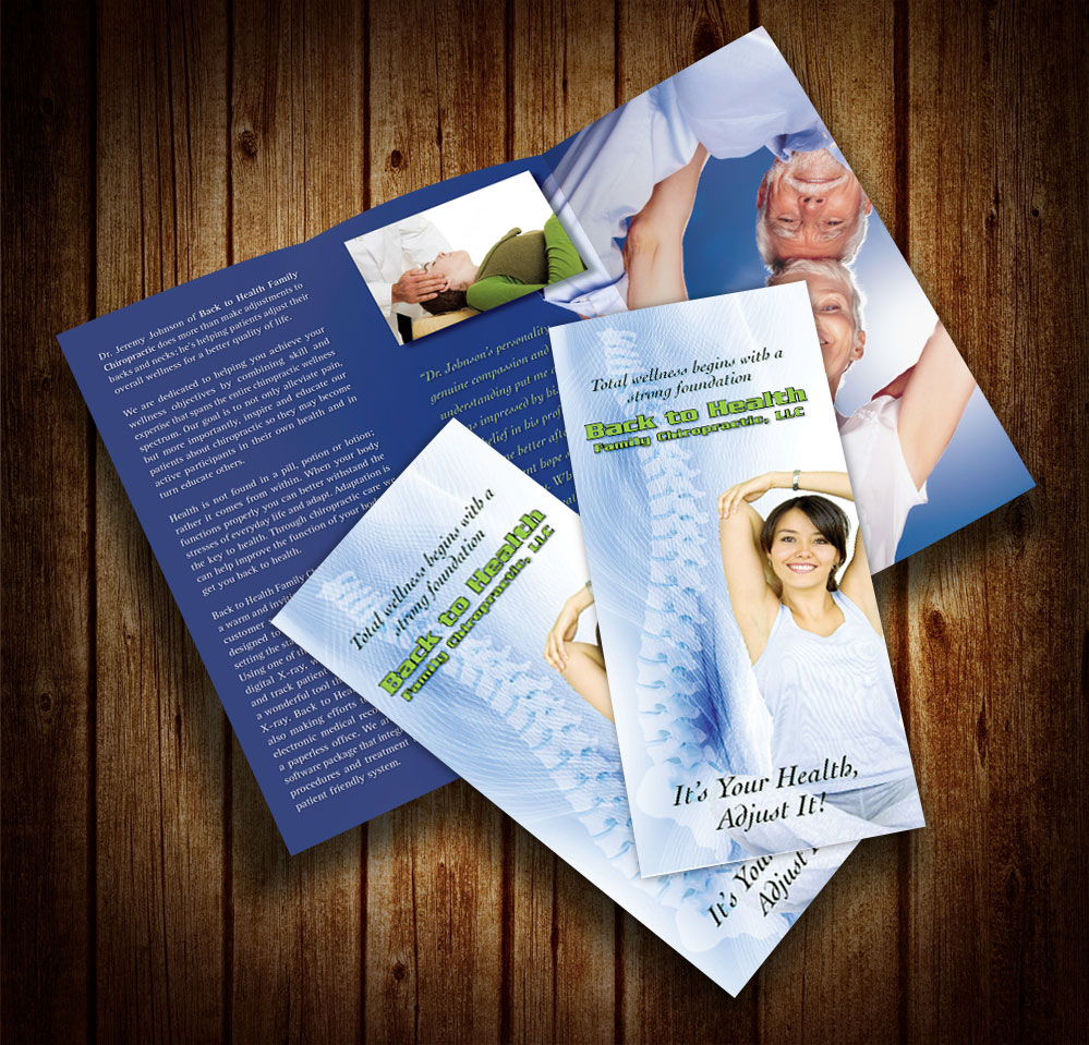 Back to Health Chiropractic Brochure by Rimshot Creative