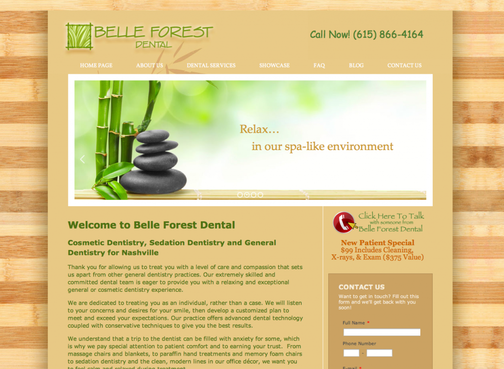 Belle Forest Dental Website by Rimshot Creative