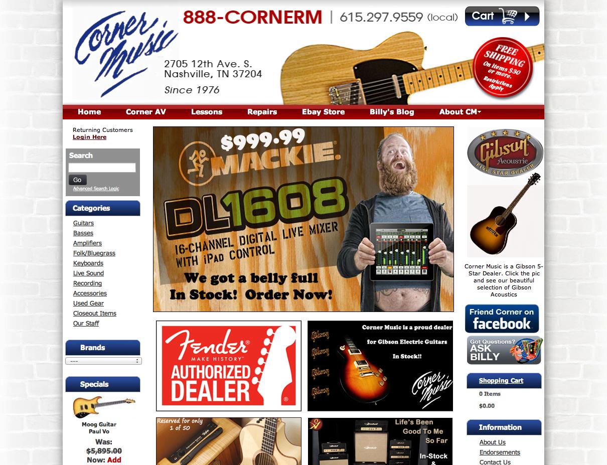 Corner Music Website