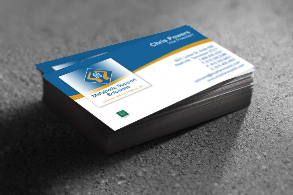 Metabolic Support Solutions Business Cards by Rimshot Creative