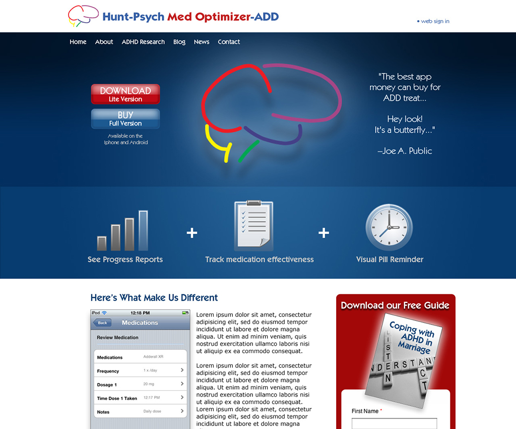 Med-Optimizer Website Design by Rimshot Creative