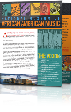 National Museum of African American Music brochure by Rimshot Creative