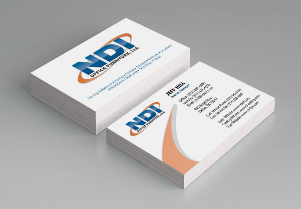 NDI Office Furniture Business Cards