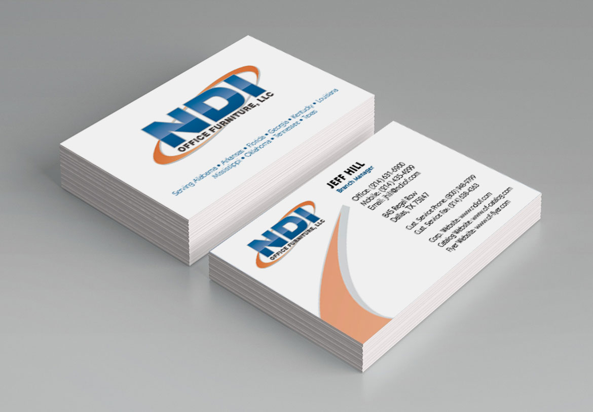 NDI Office Furniture Business Cards | Rimshot Creative