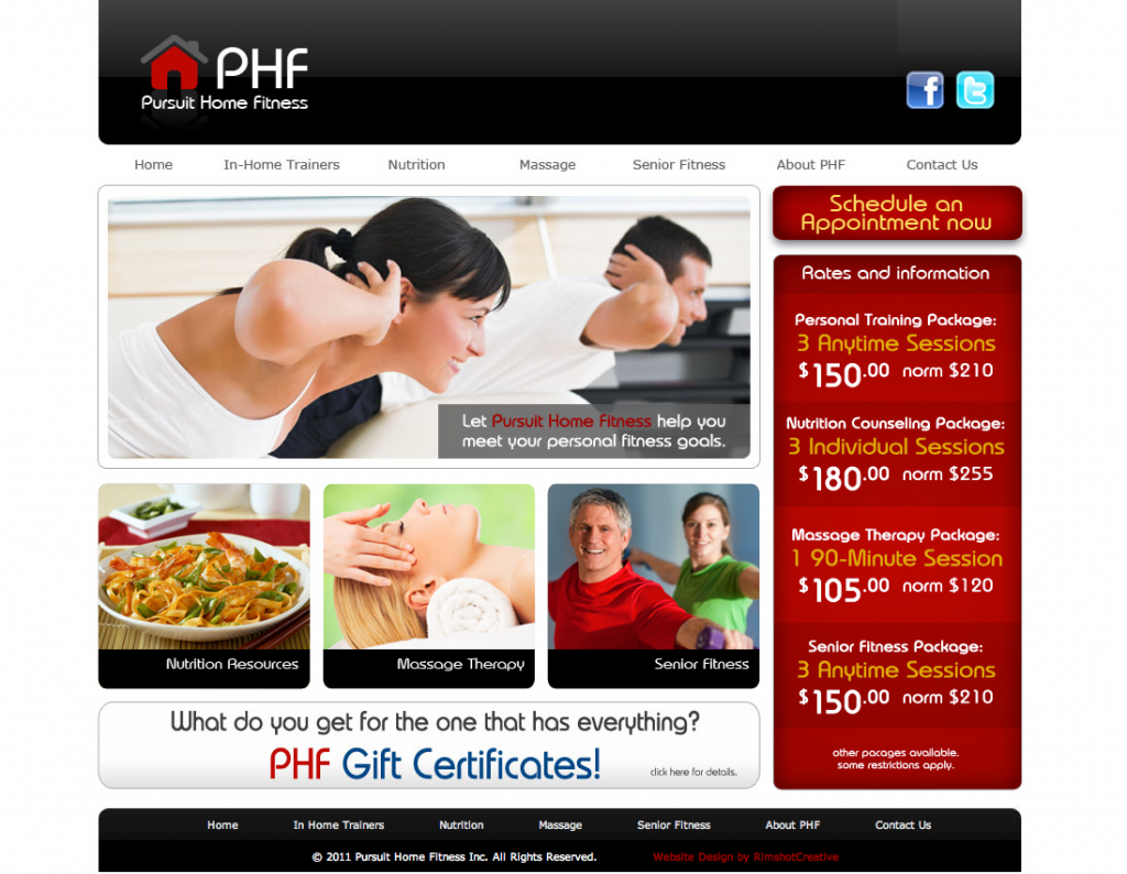 Pursuit Home Fitness Website by Rimshot Creative