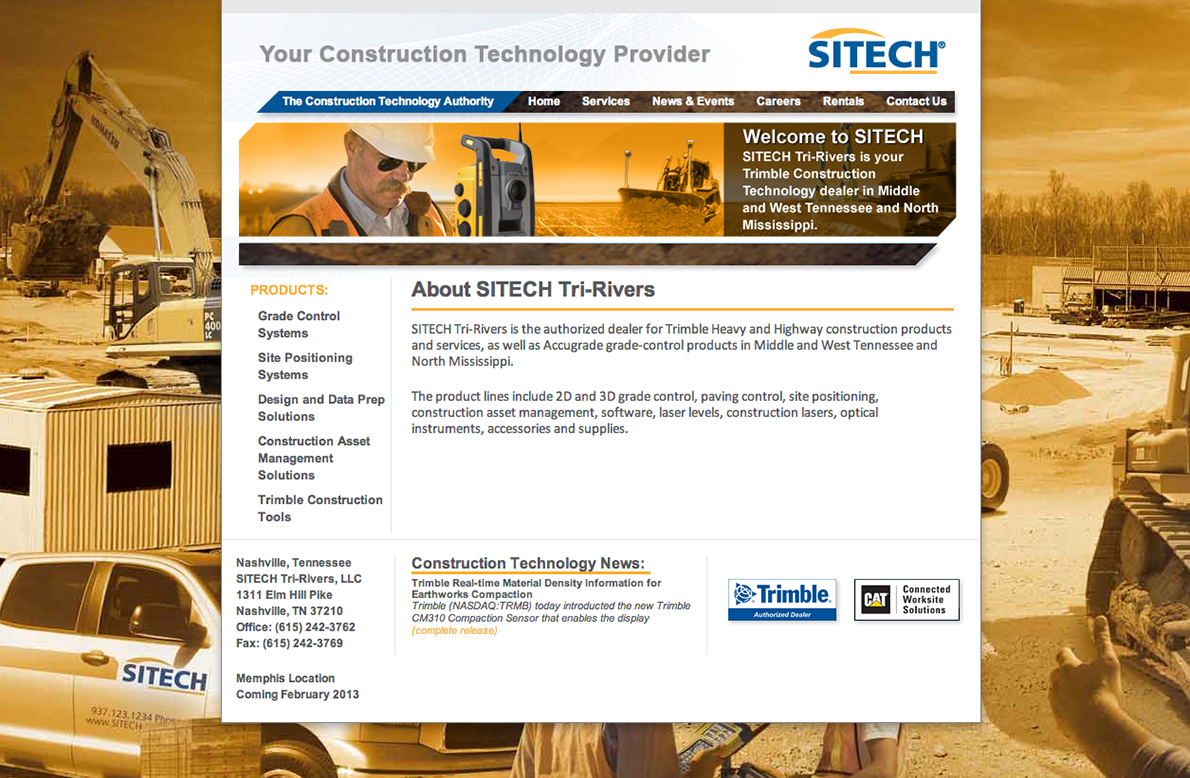 Sitech Tri-Rivers Website by Rimshot Creative