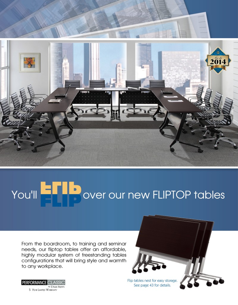 Performance Flip Top Tables Print ad by Rimshot Creative