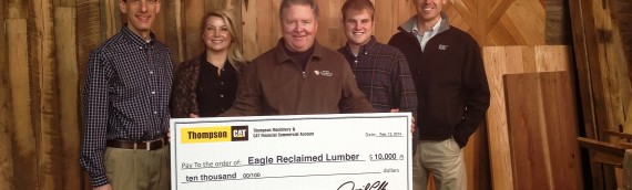 Local Business Helps Community and Wins $10,000 from Thompson Machinery