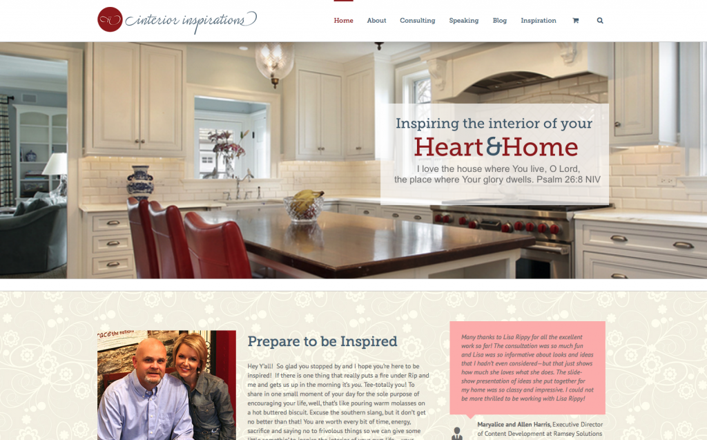 My Interior Inspirations Website Design by Rimshot Creative