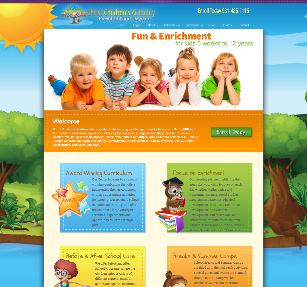 Christ Childrens Academy Website Design
