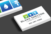 Blake Shelton Landscaping Business Card