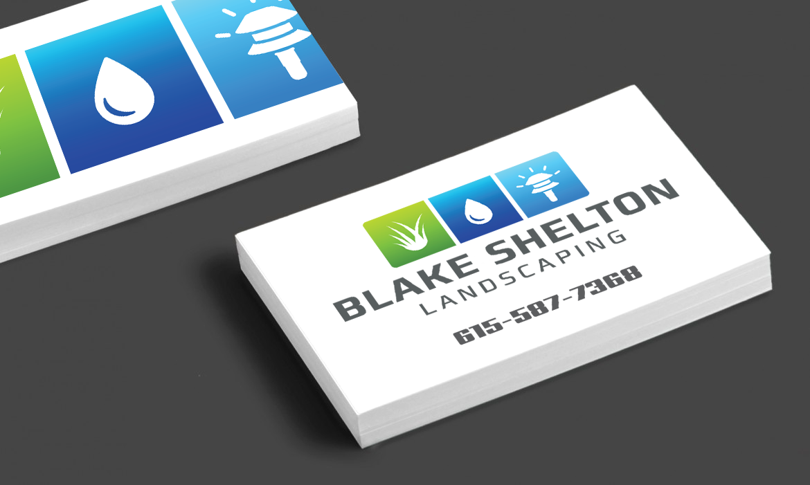 Blake shelton landscaping business card rimshot creative blake shelton landscaping business card magicingreecefo Images